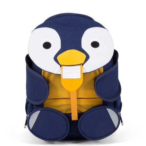 Affenzahn Polly pingvin børnevenlig rygsæk med navneskilt