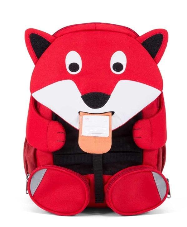 Affenzahn god børnevenlig rygsæk med navneskilt fox