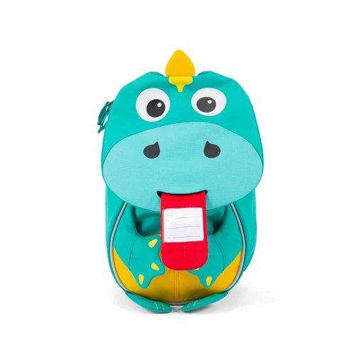 Affenzahn lille rygsæk Dinosaur med navneskilt