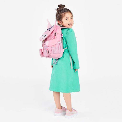 Affenzahn rygsæk perfekt til børn med flere rum og navneskilt enhjørning