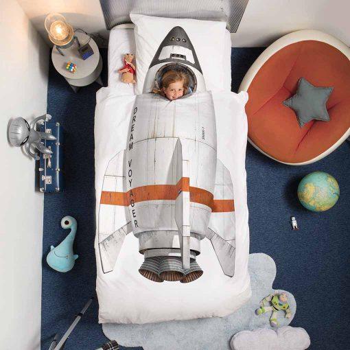 Snurk sengetøj space rumraket