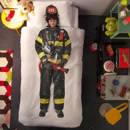 Snurk sengetøj brandmand dreng