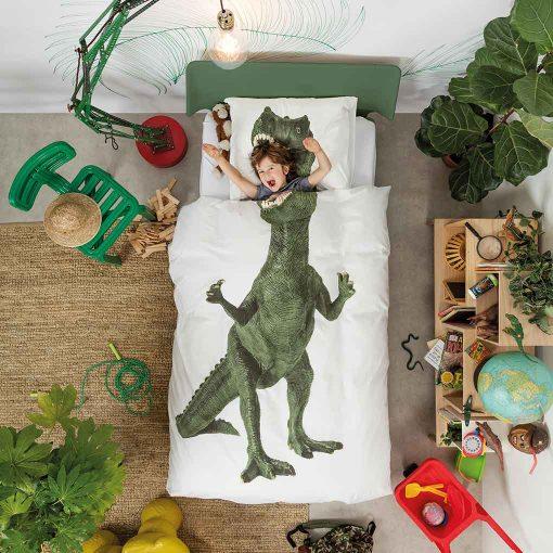 Snurk sengetøj dino fan