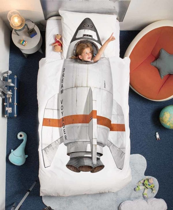 Snurk sengetøj eventyr i rumraket