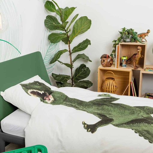 Snurk sengetøj junior - på værelset - dinosaur