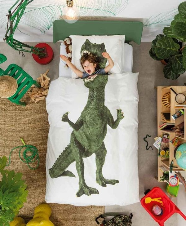 Snurk sengetøj junior - farlig dreng - dinosaur