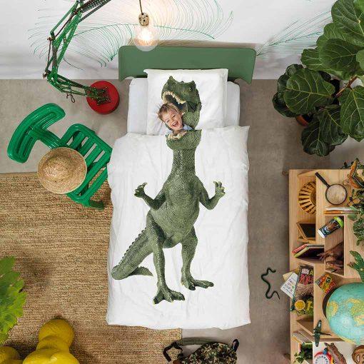 Snurk sengetøj junior - barn i sengen - dinosaur
