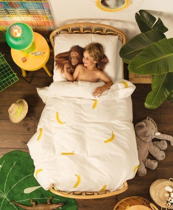 Snurk sengetøj junior - med barn - orangutang