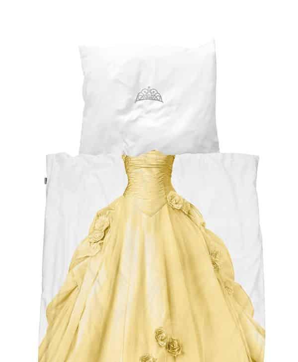 Snurk sengetøj junior - prinsesse gul