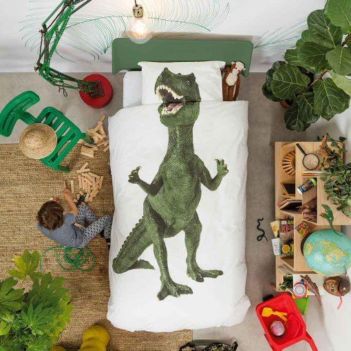 Snurk sengetøj junior - sengen er redt - dinosaur