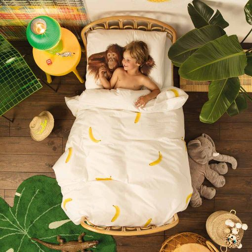 Snurk sengetoj monkey banana and boy