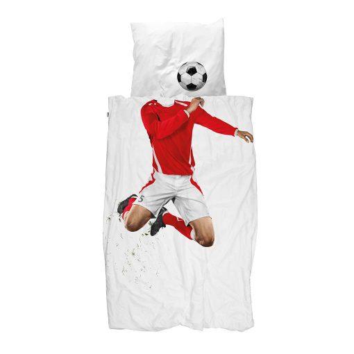 Snurk sengetøj rød fodboldspiller