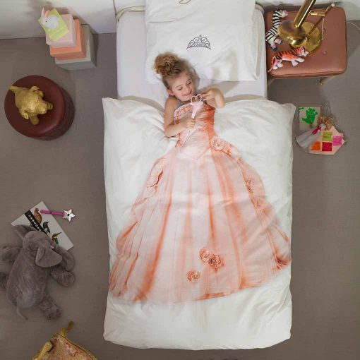 Snurk sengetøj til børn lyserød prinsesse