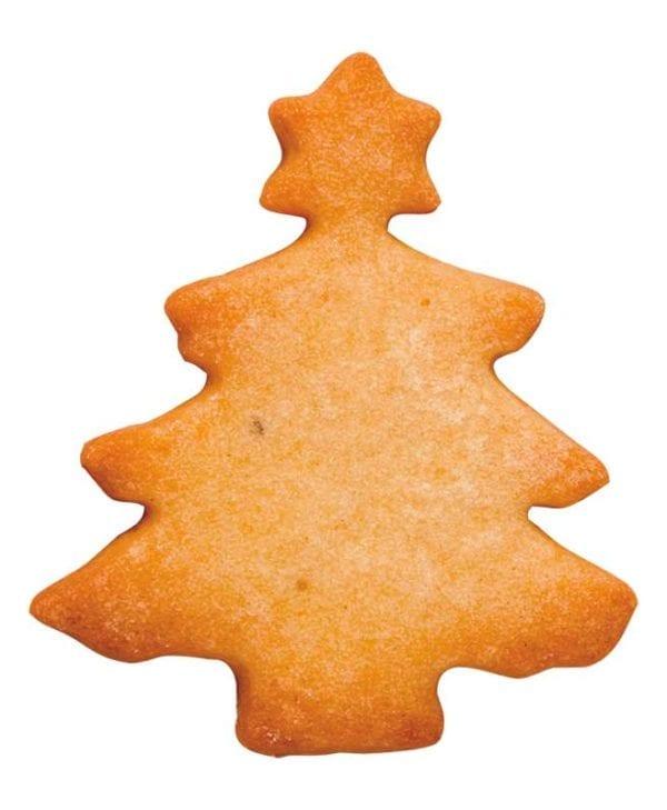 Kageudstikker Städter - 1 stk. juletræ - uden glasur