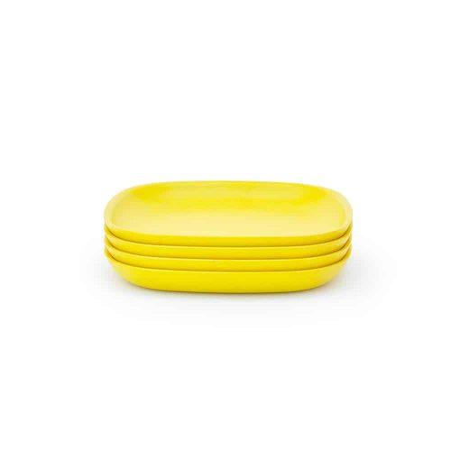 Ekobo Biobu lille tallerken gul
