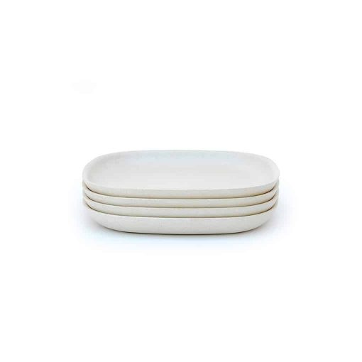 Ekobo Biobu lille tallerken hvid