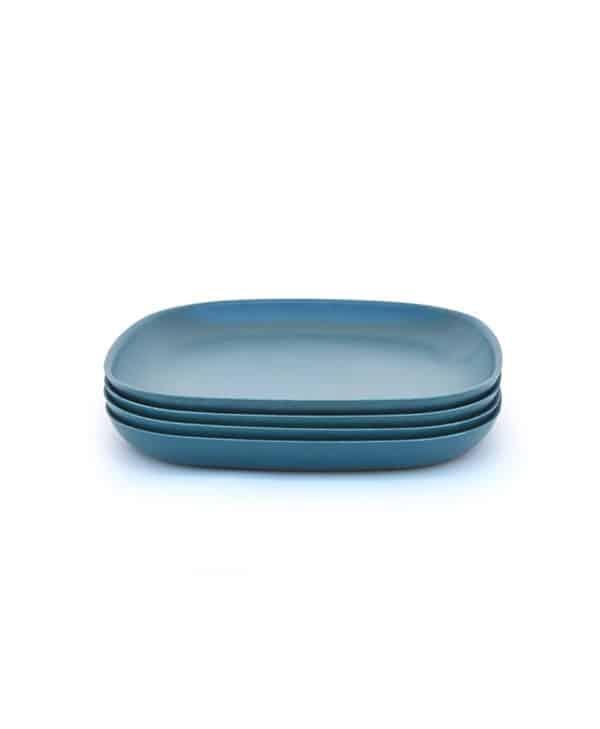 Ekobo Biobu lille tallerken petroleumsblå