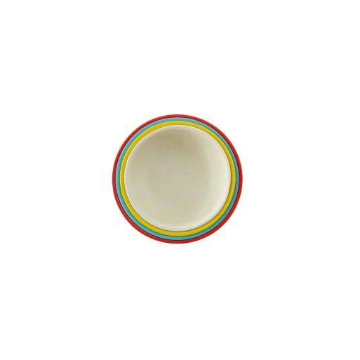 Ekobo målebæger 4 stk rød hvid gul turkis