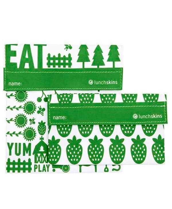 Lunchskins smarte genanvendelige poser med velcro farm