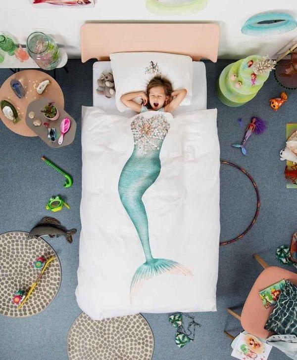 Snurk sengetøj til børn havfrue