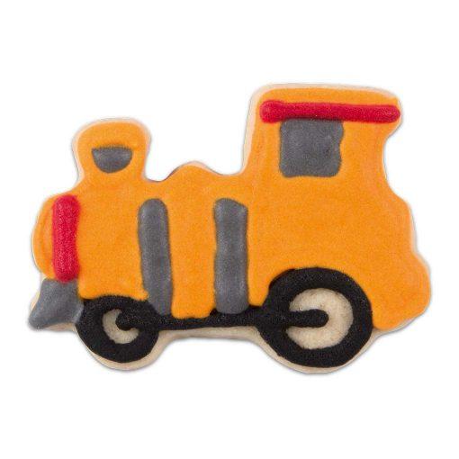 Städter kageudstikker lokomotiv med glasur