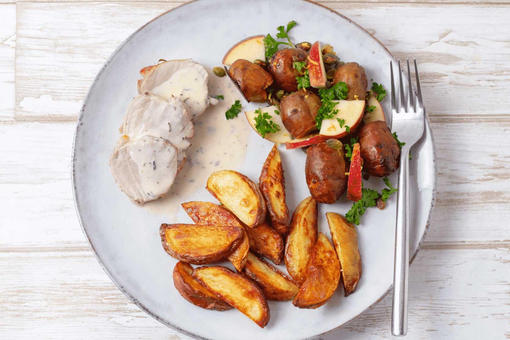 svinemørbrad med kartofler