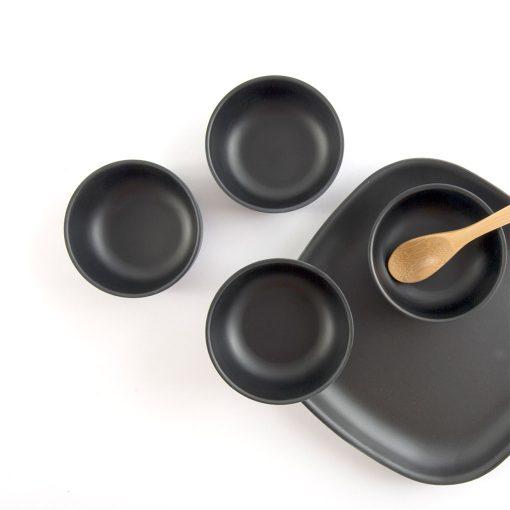 Ekobo Fresco fire små skåle sæt sort