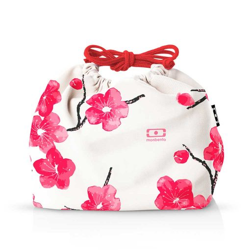 Monbento MB Pochette pose til madkasse med røde blomster
