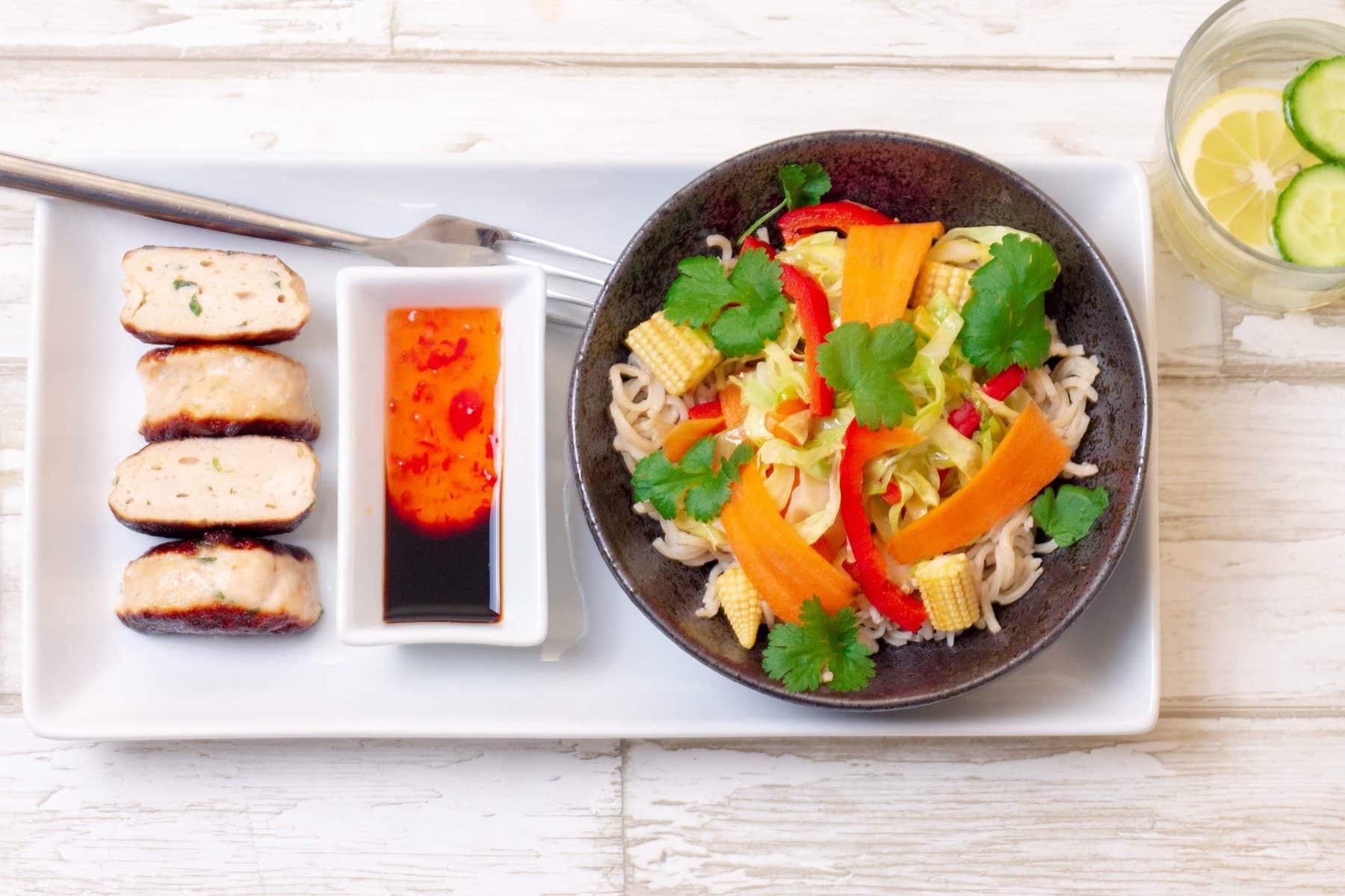 lynstegte grøntsager thai