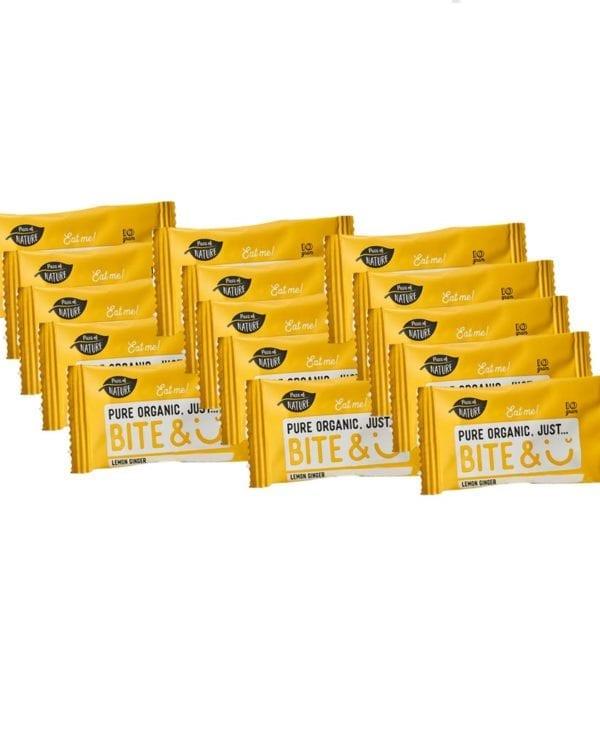 BiteSmile snacks citron ingefær 15 stk