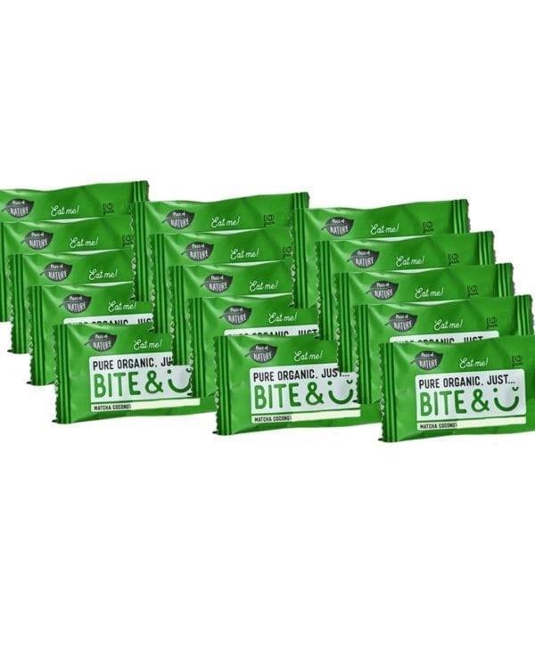 BiteSmile snacks matcha kokos 15 stk