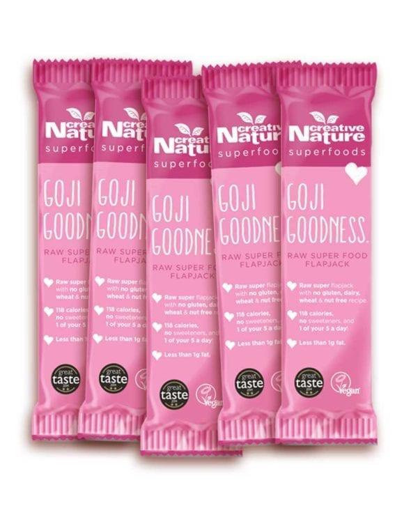 Creative Nature Goji goodness 5 stk snackbar