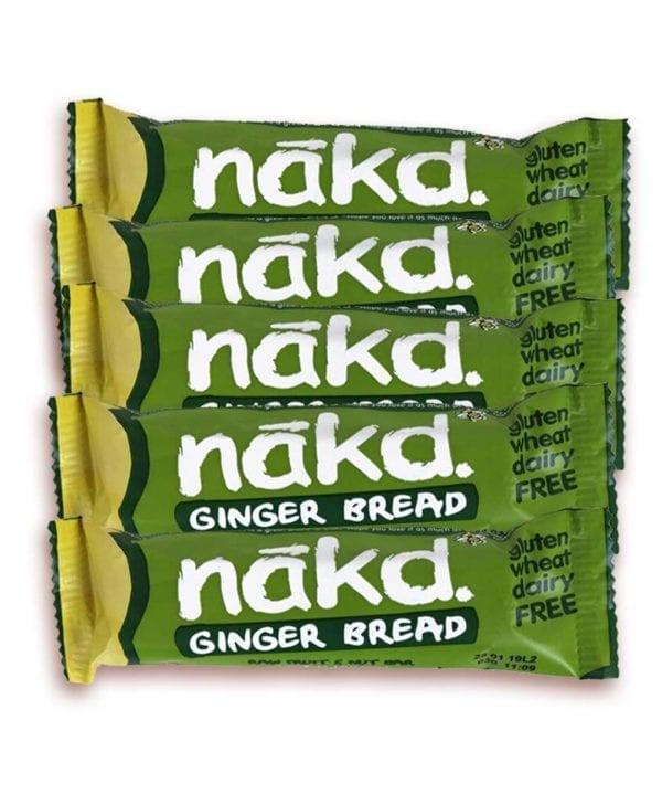 Nakd ginger bread 5 stk snackbar