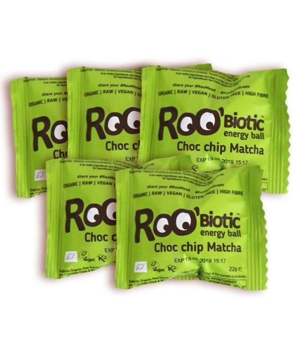 Roo Biotic Energy ball Choc Chip Matcha 5 stk