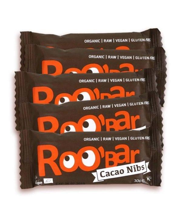 RooBar Cacao Nibs 5 stk snackbar