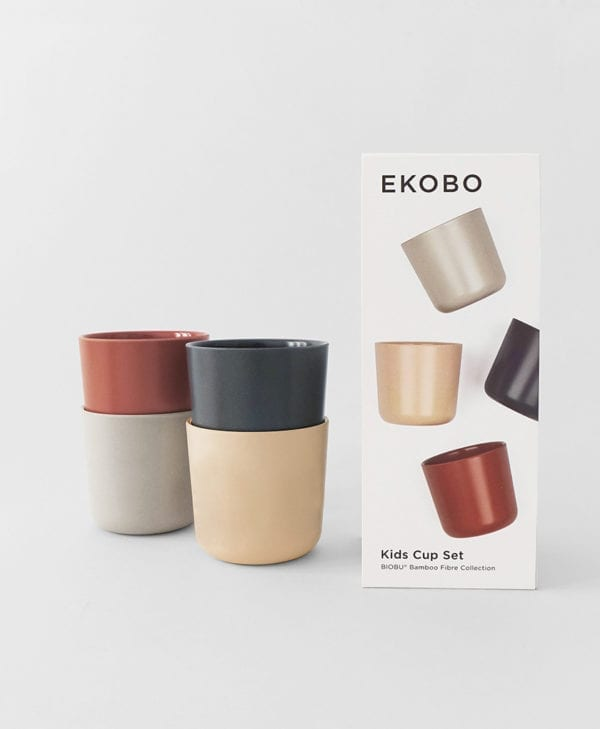 Ekobo Bambino 4-stk. cloud blush storm terracotta