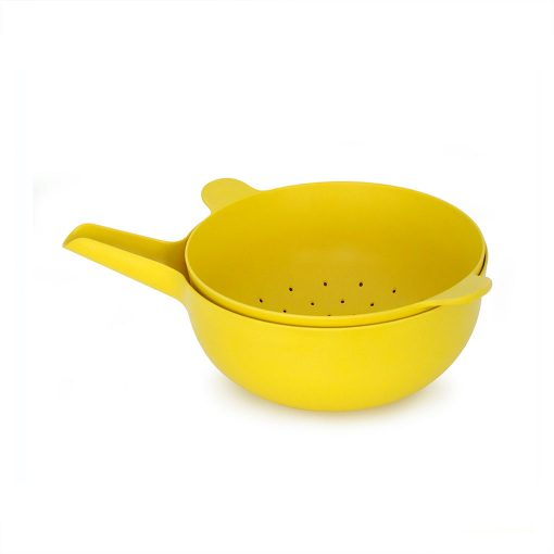 Ekobo Pronto skål og dørslag gul