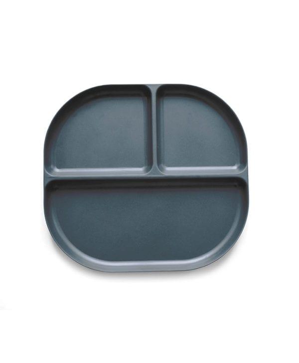 Tallerken med tre rum fra BIOBU grå