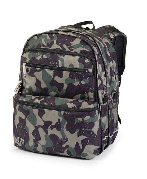 Jeva skoletaske til børn green camou